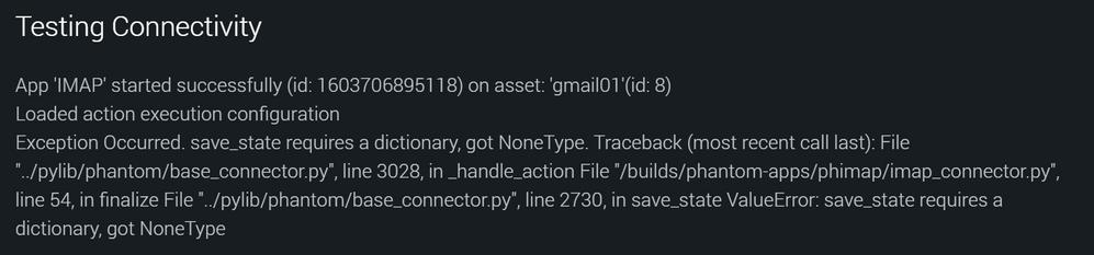 IMAP connectivity