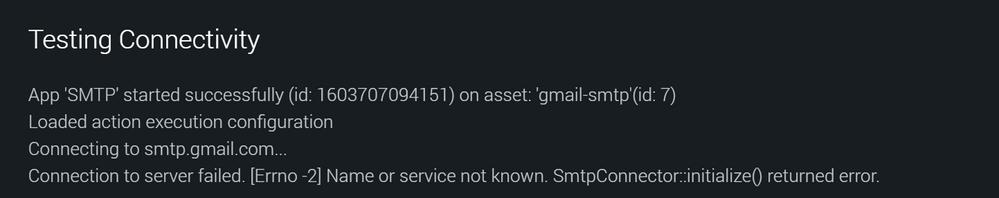 SMTP connectivity