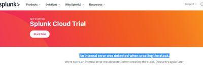 splunk error for trial account.JPG